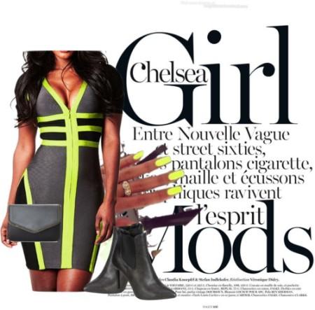 gray short dress chelsea