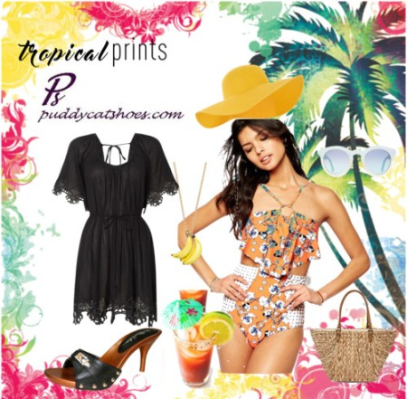 vote tropical print